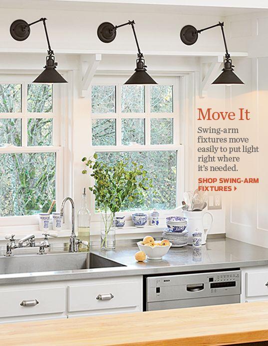 best 20 over sink lighting ideas on pinterest kitchen lighting redo kitchen reno and kitchen. Black Bedroom Furniture Sets. Home Design Ideas