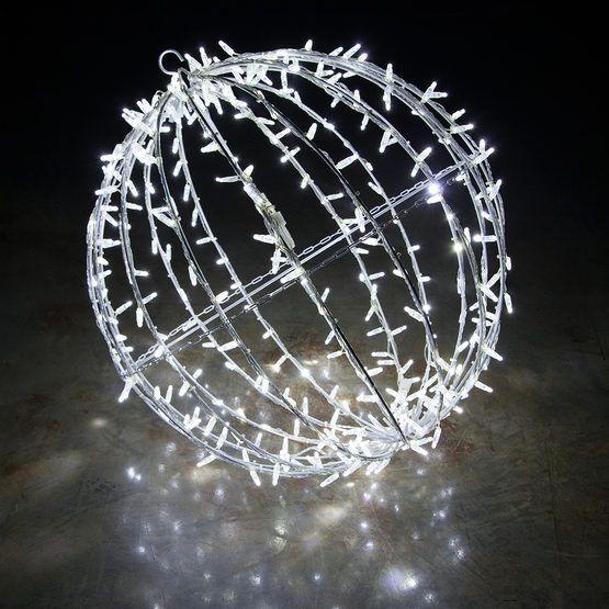 Commercial Mega Sphere Light Ball Fold Flat Cool White Led