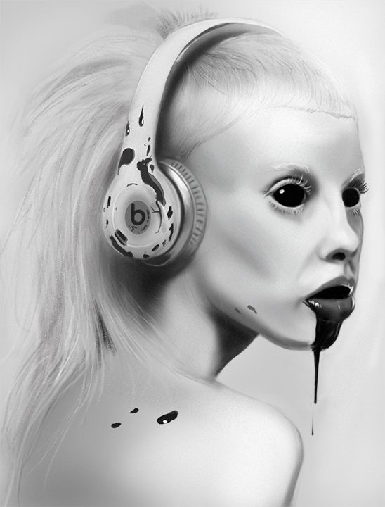 Yolandi Value study, painting done in Photoshop.