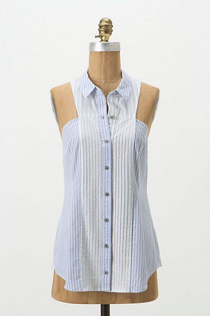 Pleated Panel Shell #anthropologie: Shells, Collared Shirt, Long Sleeve, Anthropologie Com, Panel Shell