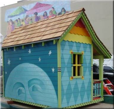 Cute Painted Sheds Found On Aplaceimagined Blogspot Com