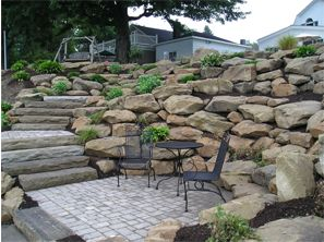 Great Rock Retaining Wall Design