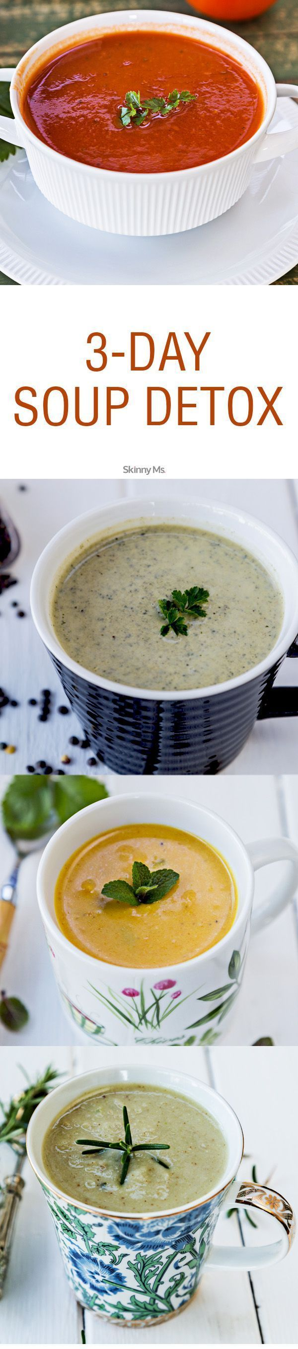 Join us for this 3 Day Soup Detox - a cleanse & detox that will leave you feeling satiated!  #ultimatedetox