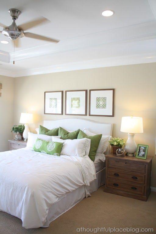 Master Bedroom Picture Spacing For The Home Pinterest Green Accents Wall Colors And Love The