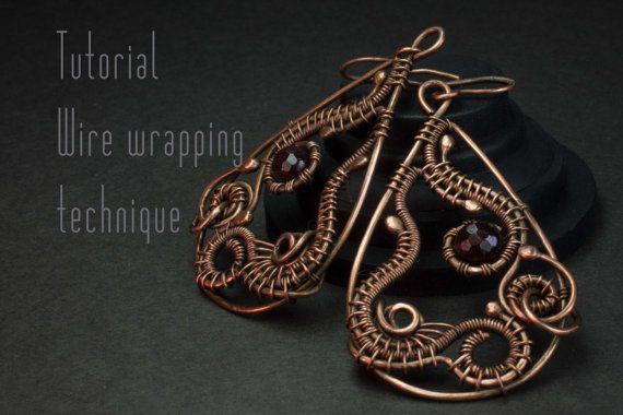 Wire Wrap Tutorial, Earrings tutorial, Wire Wrapped Earrings, Level: Intermediate