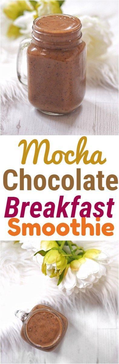 Mocha Chocolate Breakfast Smoothie
