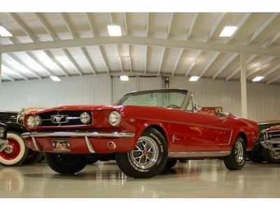 This is truly a 64 1/2 Mustang. With the D code option of 289 4bbl carb and well optioned power steering, remote mirror, power top and Fomoco underdash dealer ad ac. Crazy enough it is a very low production car to be exact the 1078th Mustang to roll off the assembly line.