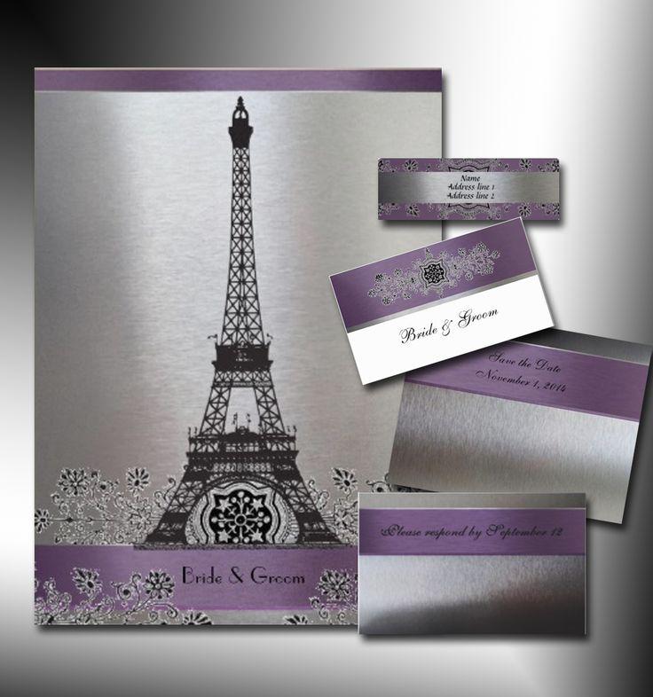 Paris invitation images click here to see details for eiffel invitation set bella 39 s 15 39 s - Salon des seniors paris invitation ...