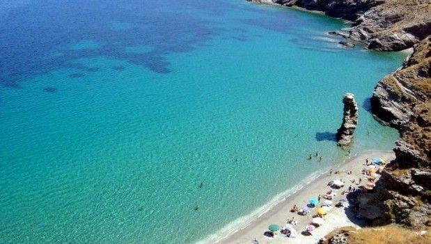 Tis Grias To Pidima beach on Andros island, Greece