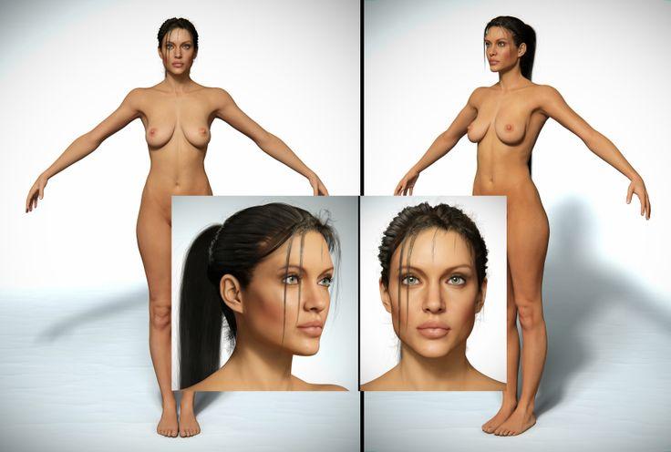 Просто шикарная 3d модель шикарной Анжелины Джоли. Форматы: max+vray(2009,2010) (присутствуют все текстуры, волосы где надо и все такое)+ ztl