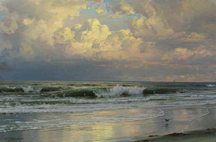 Breaking  waves,1899 William Trost Richards