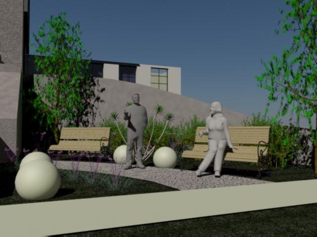 propuesta area de recreacion en area de acceso lateral a hospital san juan de Dios
