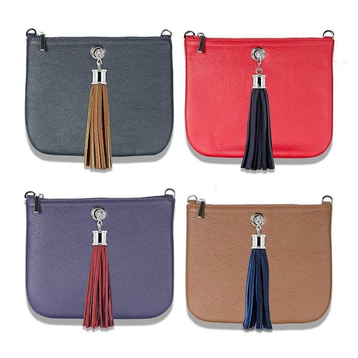 Why not colour clash your Ivy clutch bag with a contrasting tassel?