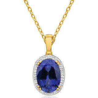Pendant, enhancer, sapphire pendant, online jewellery, gold, grahams jewellers