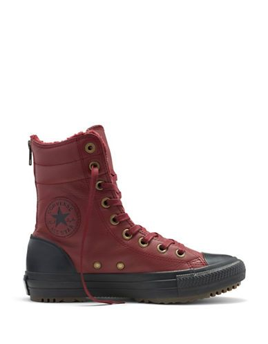 CONVERSE CONVERSEChuck Taylor All Star Leather Hi-Rise Sneaker Boots. #converse #shoes #boots