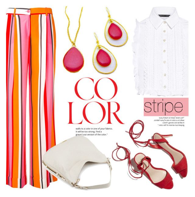 Stripes! by helenevlacho on Polyvore featuring polyvore fashion style Marissa Webb P.A.R.O.S.H. clothing