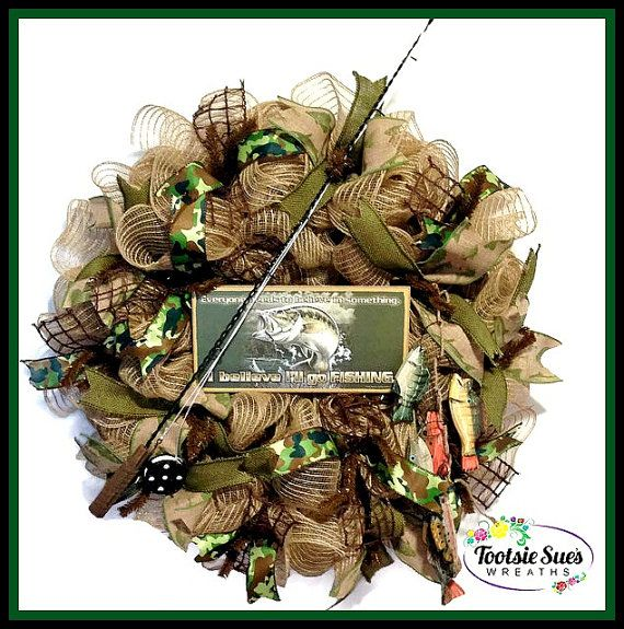 Father's Day, Sports Wreath, Fishing Wreath, Fishermans