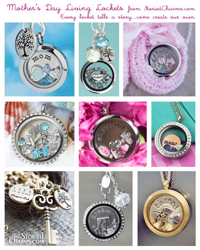 Origami Owl Living Lockets for Mothers Day from StoriedCharms.blogspot.com