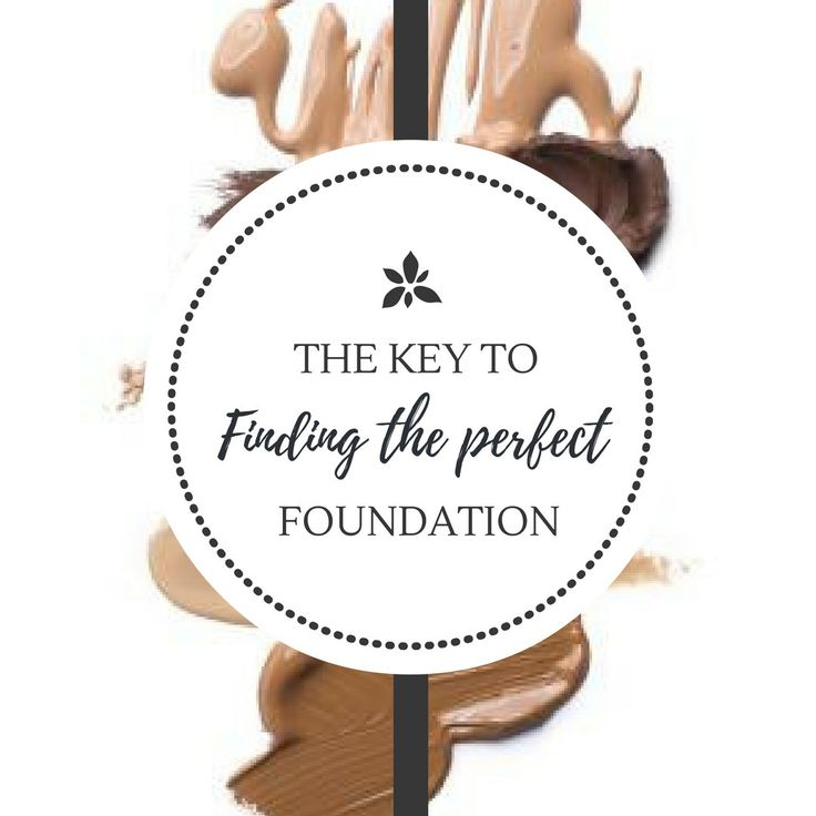 The Key To Finding The Perfect FOUNDATION!