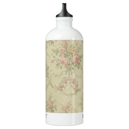 Romantic Vintage Old Pink Flowers Ornaments Water Bottle - rustic gifts ideas customize personalize