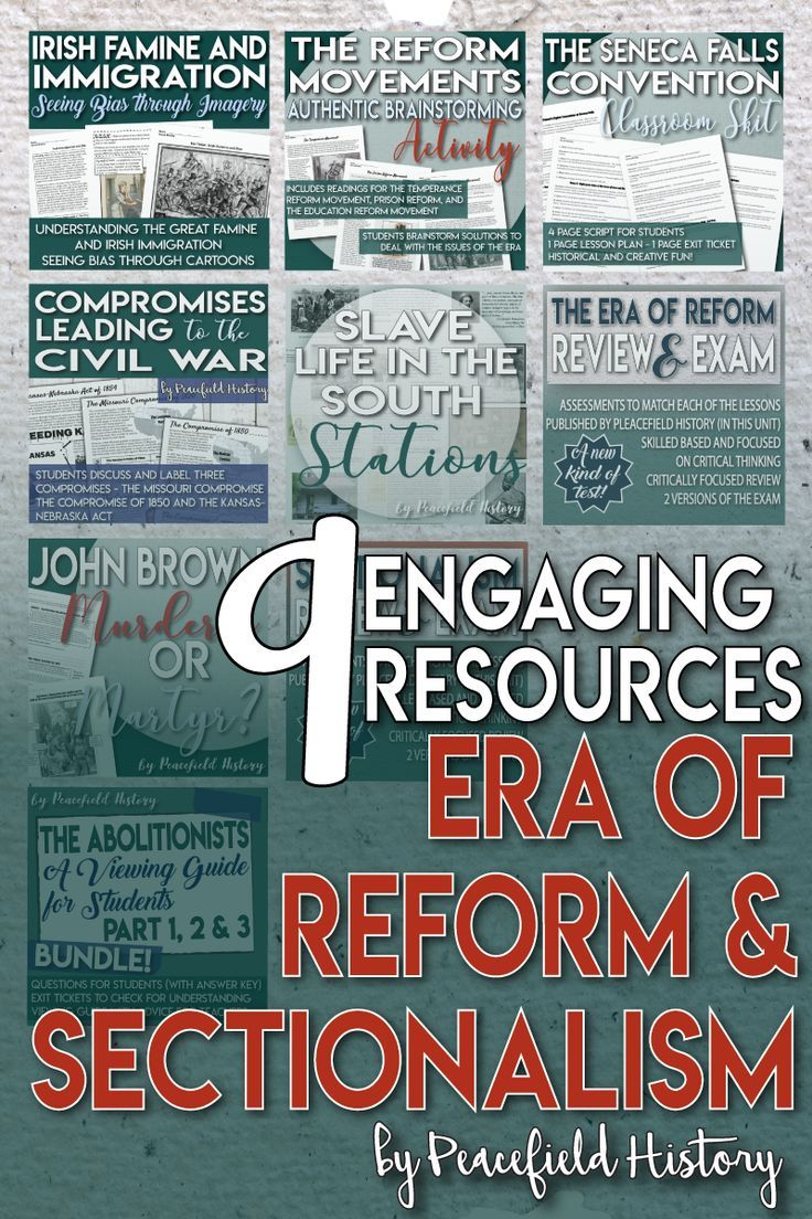 The Era of Reform and Sectionalism Full Unit Bundle | Reform