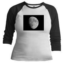 Half moon in black sky Baseball Jersey #shirts #t-shirts #moon #cool #black #blackandwhite #womenswear #sportswear #cafepress #fotosbykarin