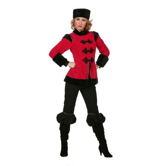 Traditioneel dames Kozak kostuum  Traditionele Kozak dames kostuum. Een luxe Russische Kozak dames kostuum bestaande uit de rode jas broek en muts.  EUR 69.95  Meer informatie