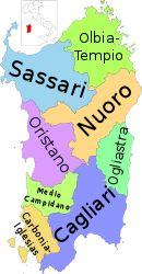 La Sardegna e le sue province