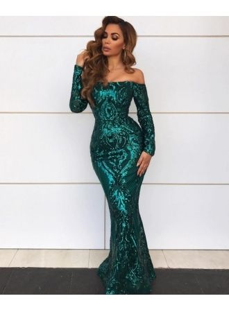 060cf57b70 USD 159.00 - Gorgeous Off-the-Shoulder Long Sleeve Evening Gowns ...