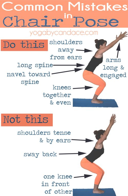 Common mistakes in Chair Pose.