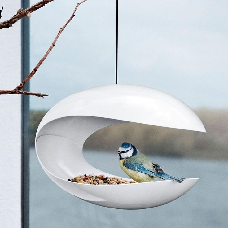 The perfect bird table for Stanley Kubrick's budgie HAL.