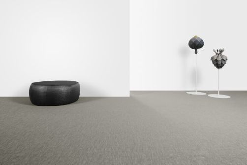Strong tonal contrast between this Bolon Vinyl floor & the wall; the two critical surfaces when designing for dementia