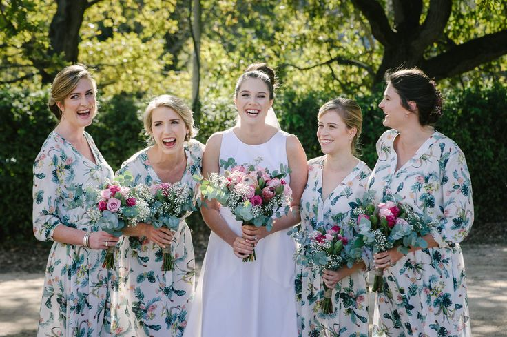 DO be brave and dress your bridesmaids in floral to complement your Fabulous Fynbos bouquets like Amy did with her girls. We think the results are absolutely beautiful and so on trend.