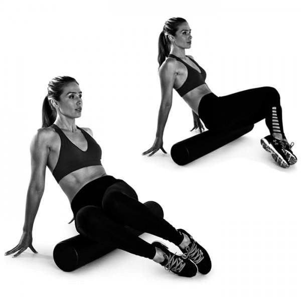 """Yes, it hurts so good, but there's more to foam rolling than easing post-workout soreness. Technically called self-myofascial release, foam rolling therapy works by alleviating adhesions or """"knots"""" in soft tissue to restore elasticity and muscle motion. By guiding your body back and forth over the roller, you're essentially giving yourself a deep tissue massage. """"Foam rolling gives you more circulation, more oxygenated blood,"""" says Lauren Roxburgh, a personal trainer and expert in foam…"""