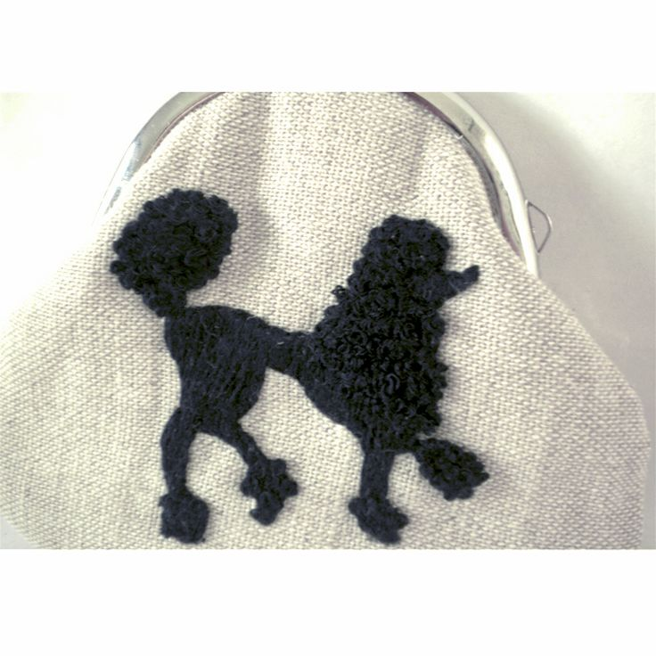 "Sjoti ""Poodle"" Hand Embroidered Frame Coin Purse"