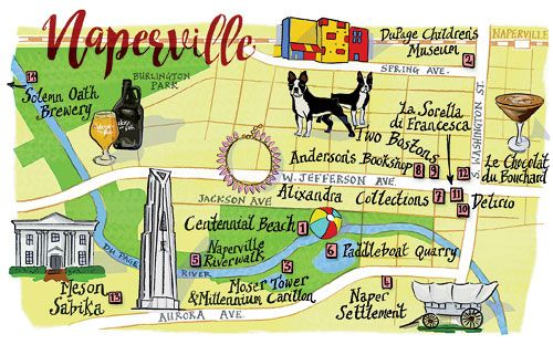 Naperville map