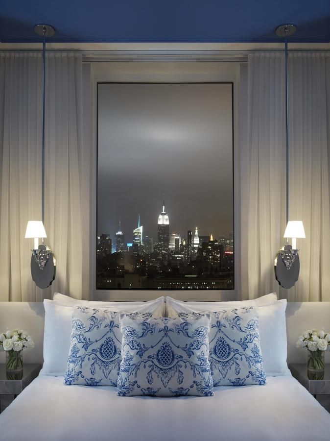 """Mondrian Soho Hotel, New York! Located in New York City's trendy SoHo district, this 5-star hotel is inspired by the Jean Cocteau Film, """"La Belle et la Bête"""" and offers a restaurant, bar and modern guest rooms with floor-to-ceiling windows."""