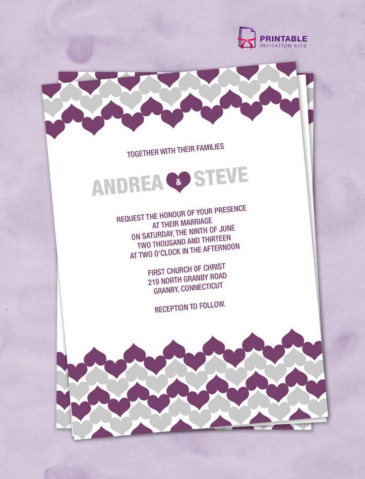 207 best wedding invitation templates (free) images on pinterest, Wedding invitations