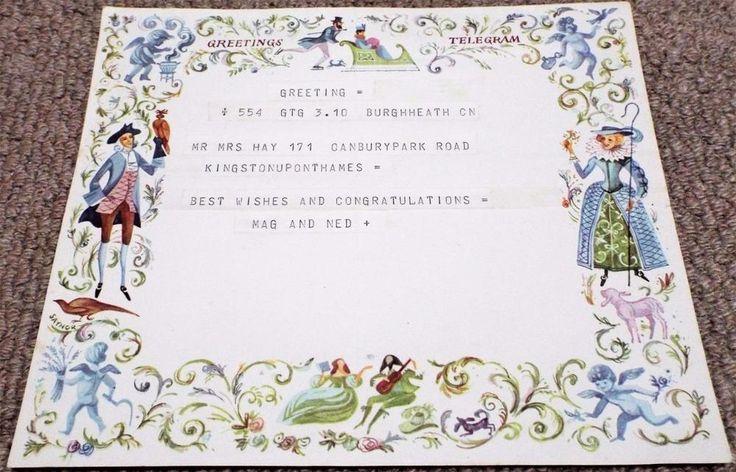 Vintage 1965 GPO Greetings Telegram - Saynor