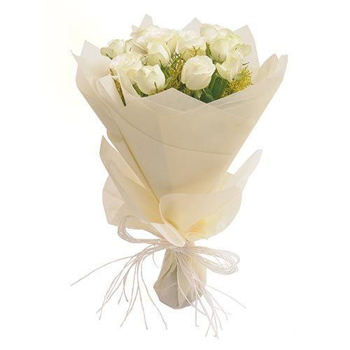 White Roses Bouquet @Bookmyflowers.com