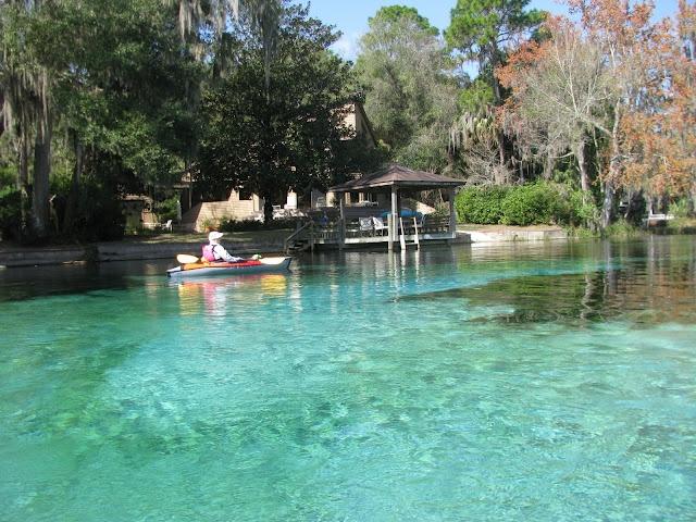 Kayaking Rainbow River FL...fresh water springs the water is crystal clear