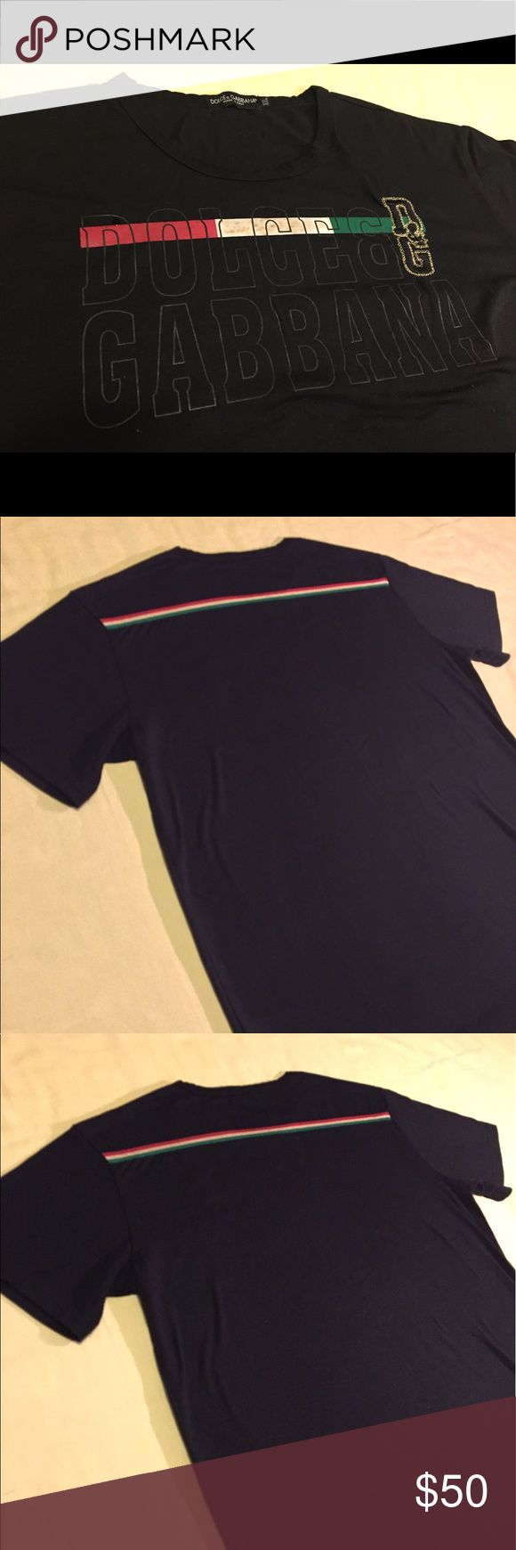 Dolce and Gabbana Tee shirt Black dolce and gabbana tee shirt in fine condition...no fade or discoloration Dolce & Gabbana Shirts Tees - Short Sleeve