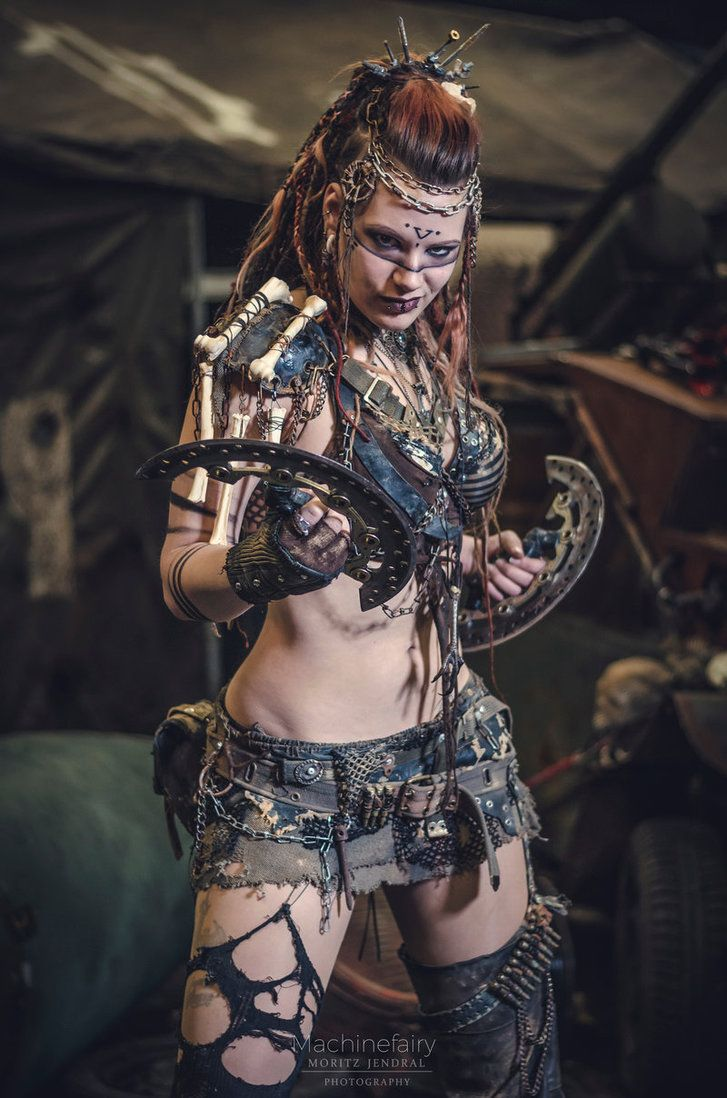 NORN by MachineFairy.deviantart.com on @DeviantArt post apocalypse costume larp wasteland warrior weapon dystopia outfit idea inspiration