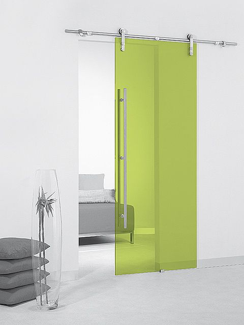 Puerta corredera de cristal Casali System Lime Transparente de Maydisa. www.maydisa.com