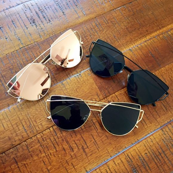 Rose Gold Sunglasses Brand new! Super cute! 15% off of bundles! This listing is for the rose gold  pair only! FEEL LIKE MAKING AN OFFER? Please do it through the make an offer feature as I will no longer negotiate prices in the comments section. PRICE IS FINAL ON ITEMS $15 or less unless bundled. Accessories Sunglasses