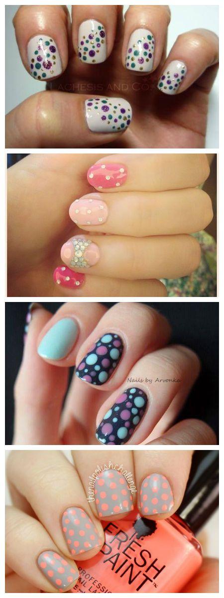 Cómo usar polka dots en tus uñas.