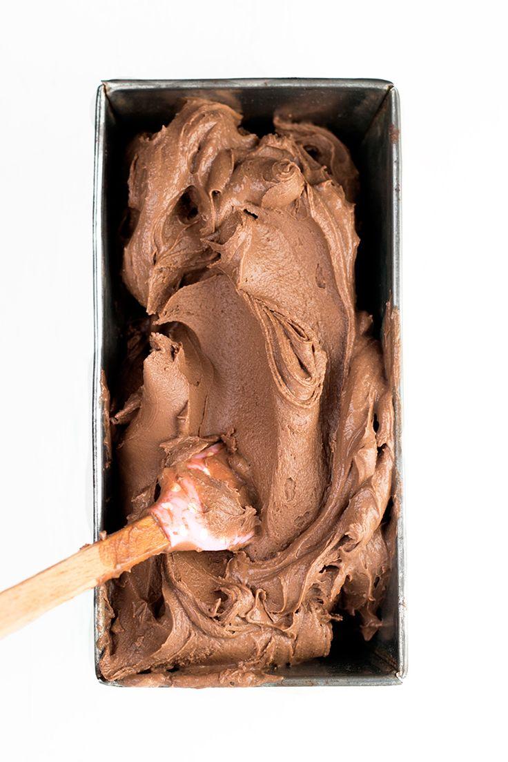 Creamiest Vegan Chocolate Ice Cream - homemade, ultra creamy and scoopable chocolate ice cream made with cashews and coconut milk. Vegan and Gluten Free. #vegan #glutenfree #chocolate #icecream #foodporn #veganfood