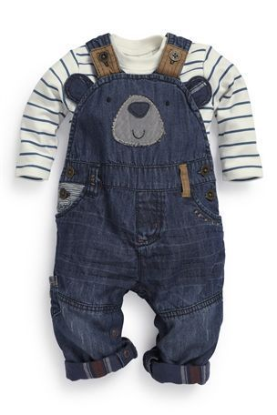 Buy Bear Denim Dungarees (0-18mths) from the Next UK online shop