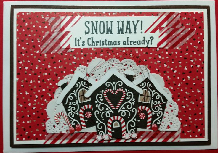Christmas Card - made using all Stampin' Up! products including Candy Cane Lane…