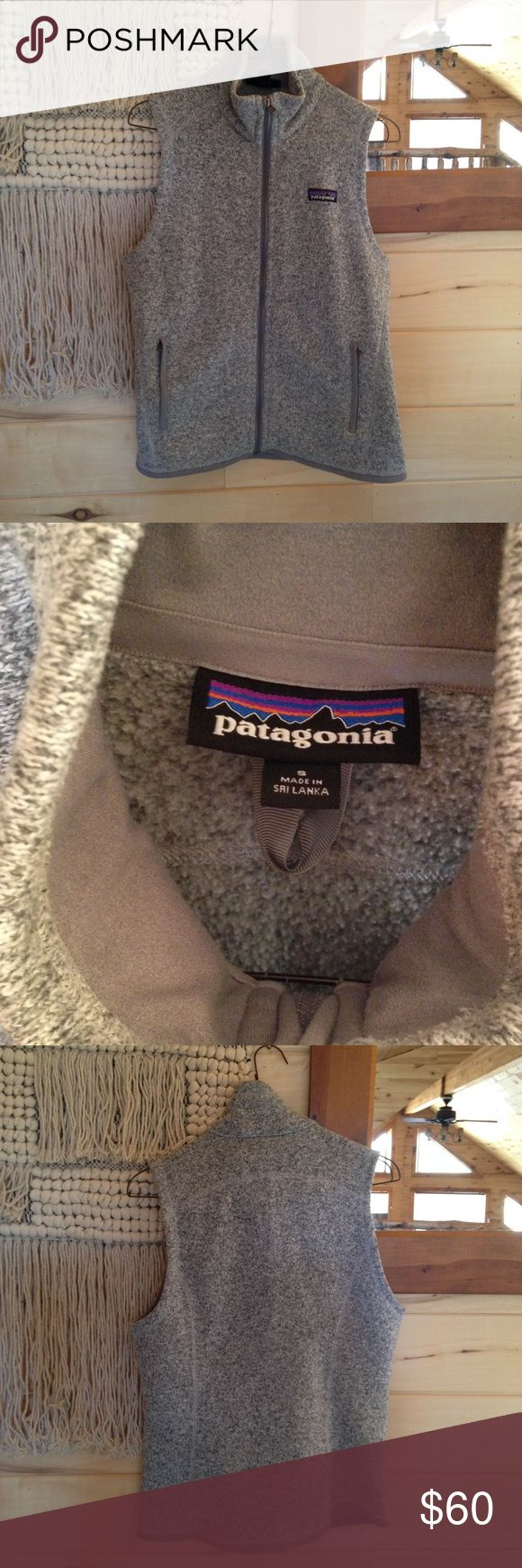 Patagonia better sweater vest No damages or stains, but there is some pilling in the front. I tried showing photos, but the color makes it hard to see. I think this color is referred to as white birch Patagonia Jackets & Coats Vests